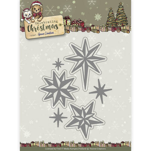 Die - Yvonne Creations - Celebrating Christmas- Twinkling Stars