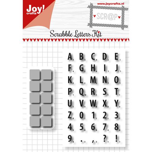 Scrap Snijstencil en Stempel - Scrabble