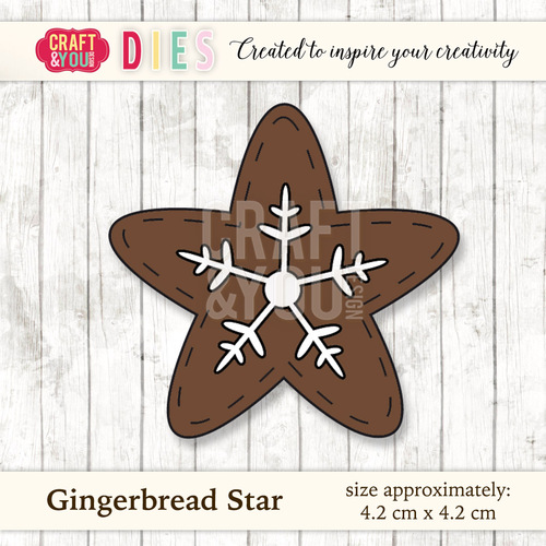 CW026 Die Gingerbread Star
