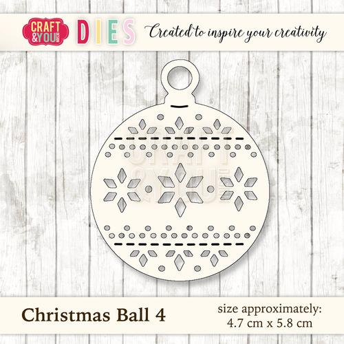 CW027 Die Christmas Ball 4