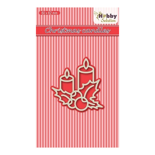 HSDJ017 Hobby Solutions Die Cut Christmas Candles