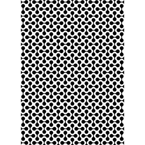 NMMS020 Plastic lasercut stencil A5 size pattern-4