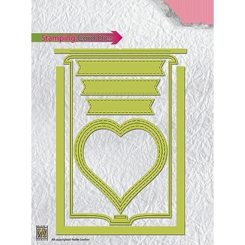 STCD001 Special Card Die Stamping card dies: heart
