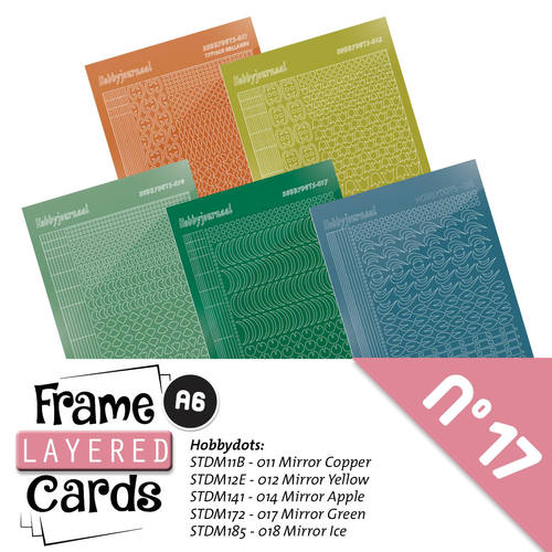 Stickerset Layered frame cards 17
