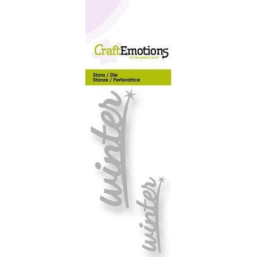 CraftEmotions Die - tekst winter 2x Card 5x10cm (new 08-17)