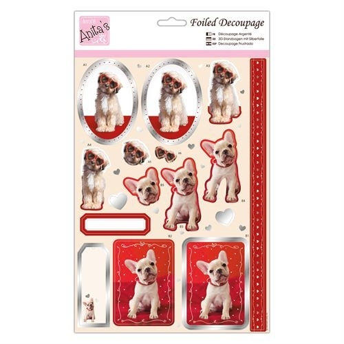 Foiled Decoupage - Puppy Love