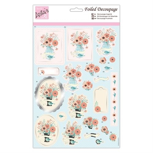 Foiled Decoupage - Blooming Delight