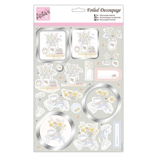 Foiled Decoupage - Tea and Blooms