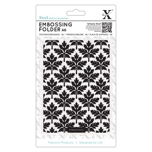 A6 Embossing  Folder - Baroque Leaves