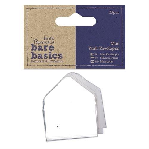 Mini Kraft Envelopes (20pcs) - Bare Basics - White