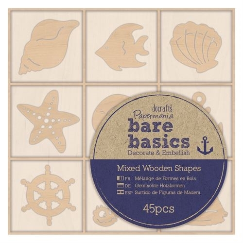 Wooden Shapes (45pcs) - Bare Basics - Nautical