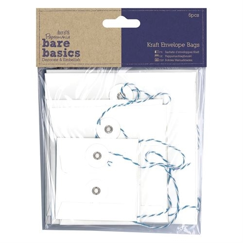 Kraft Envelope Bags (6pcs) - Bare Basics - Square White