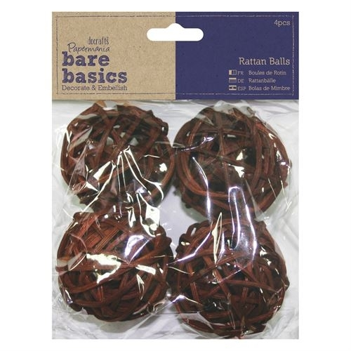 Rattan Balls (4pcs) - Large - Bare Basics