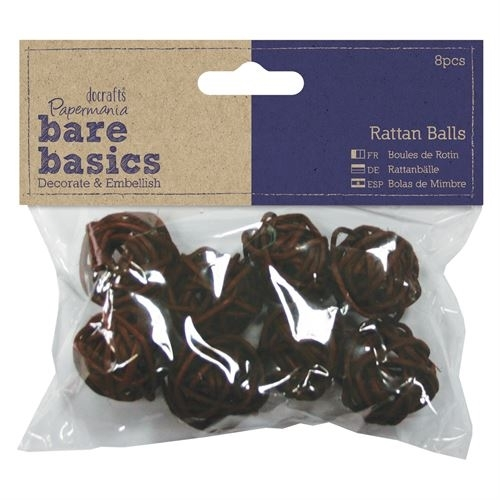 Rattan Balls (8pcs) - Small - Bare Basics