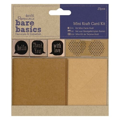 Mini Kraft Card Kit - Bare Basics