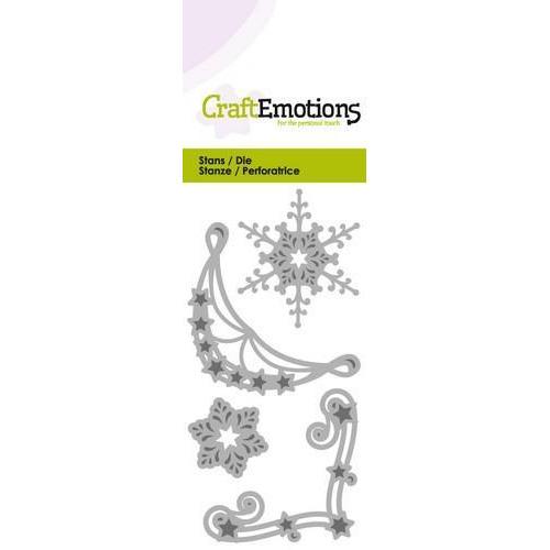 CraftEmotions Die - hoekornament 2x - krisal 2x Card 5x10cm (new 08-17)