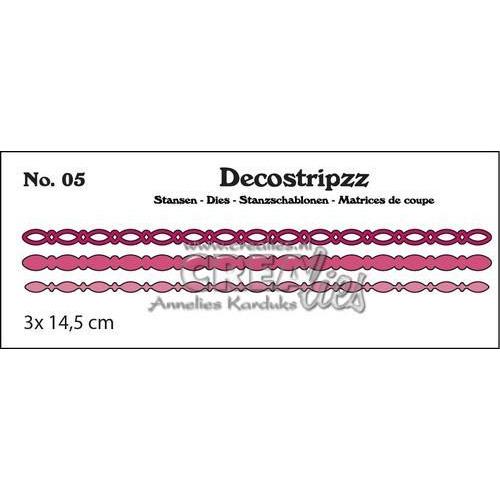 Crealies Decostripzz ovaaltjes 3x 14,5 cm / CLDS05 (09-17)