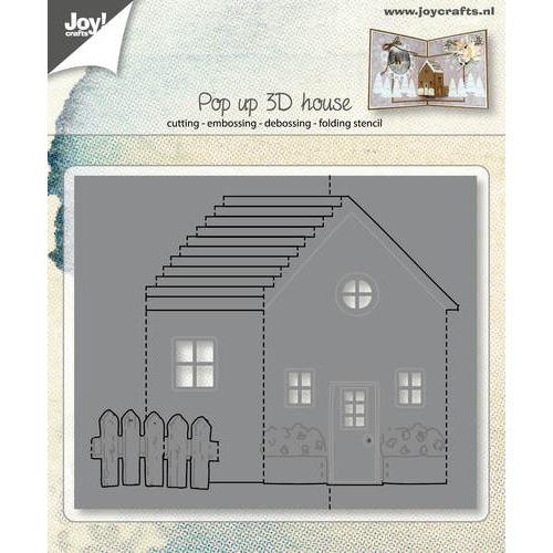 Snij-embos-debosstecil - Pop up - 3D Huis