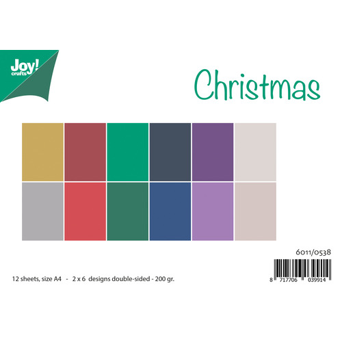 Papierset Matching Colors Uni - Christmas