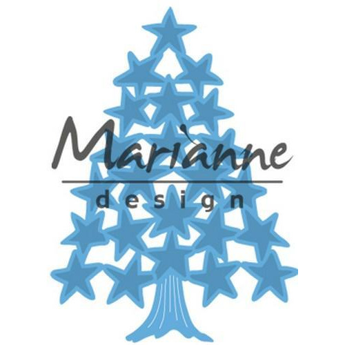 Marianne D Creatable Tiny`s Kerstboom sterren LR0490 (10-17)