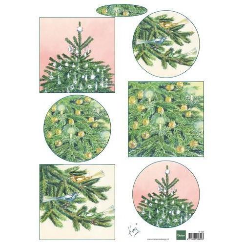 Marianne D 3D Knipvellen Kerstbomen IT598 (10-17)