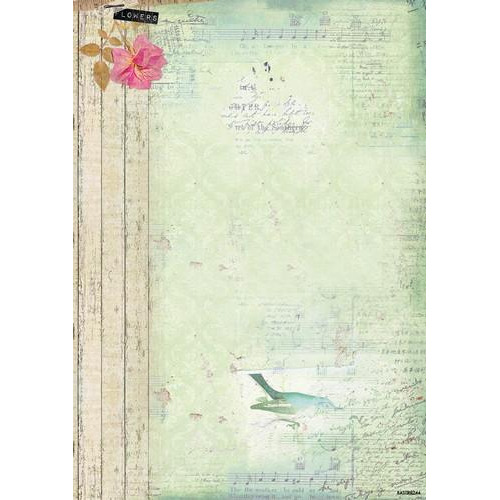 Studio Light Achtergrondpapier 1 vel A4 Romantic Botanic 244 BASISRB244 (09-17)