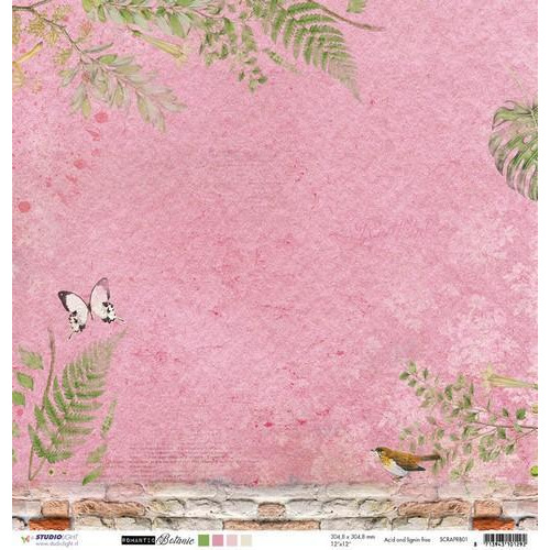 Studio Light Scrappapier 10 vel 30,5x30,5 Romantic Botanic 01 SCRAPRB01 (09-17)
