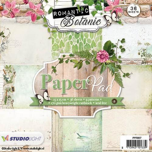 Studio Light Paper pad 36 vel 12 designs Romantic Botanic nr 57 PPRB57 (09-17)