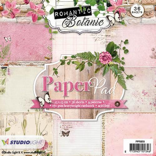 Studio Light Paper pad 36 vel 12 designs Romantic Botanic nr 58 PPRB58 (09-17)
