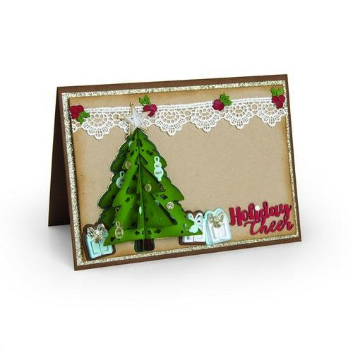 Sizzix Thinlits Die Set 9PK - Christmas Tree Flip & Fold 662281 Katelyn Lizardi (09-17)
