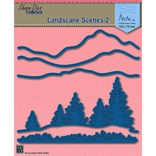 Shape Die Blue- Landscape 2