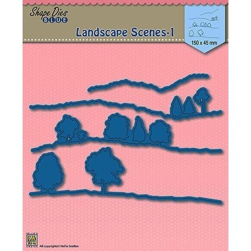 Shape Die Blue- Landscape 1