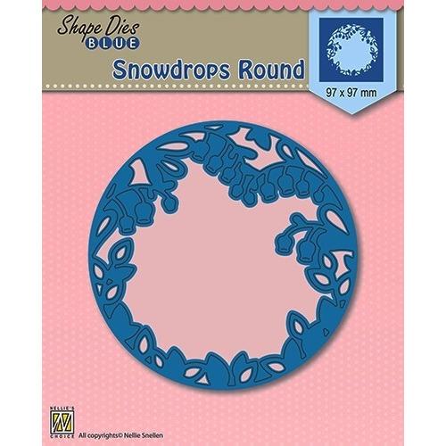 Shape Die Blue- Snowdrops round