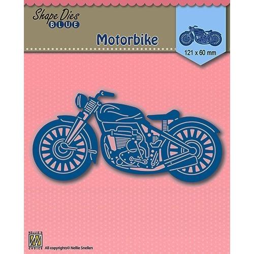 Shape Die Blue- Motorbike