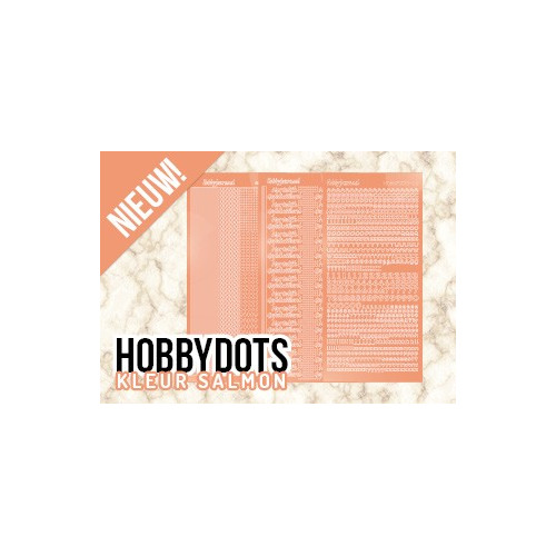 Hobbydots sets stickers Salmon (24stk)