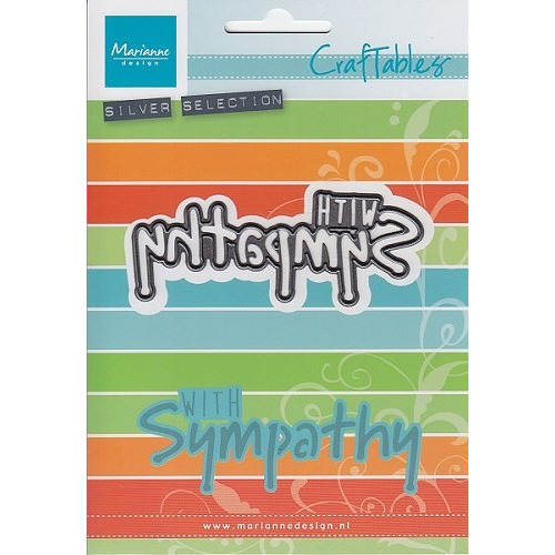 Marianne Design - Die - Craftables -CR1315 With sympathy