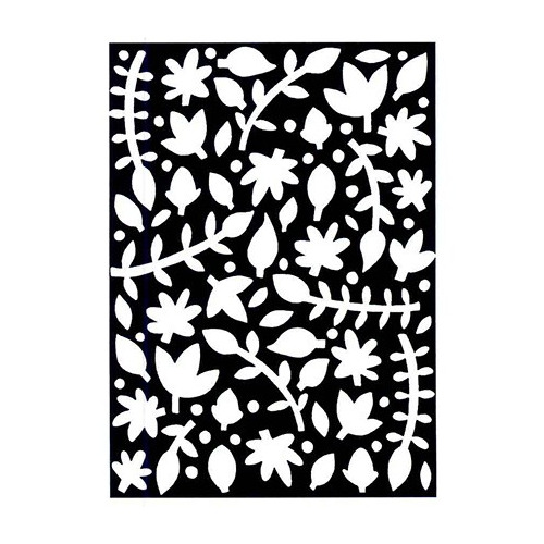 Background Pre Cut Stamp - Silhouette-leaf