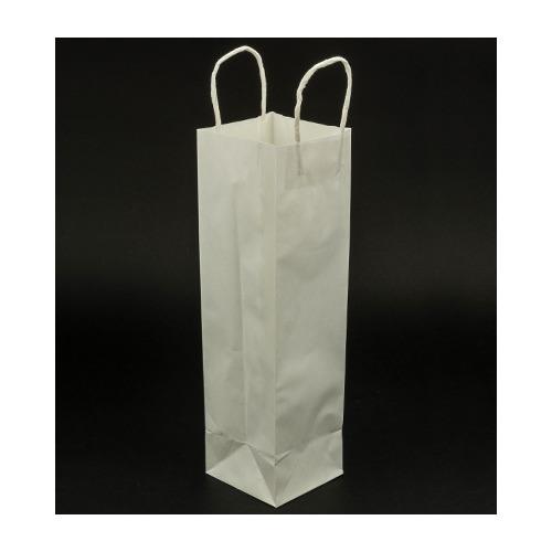 Kraftpapier tas voor fles, Weiß