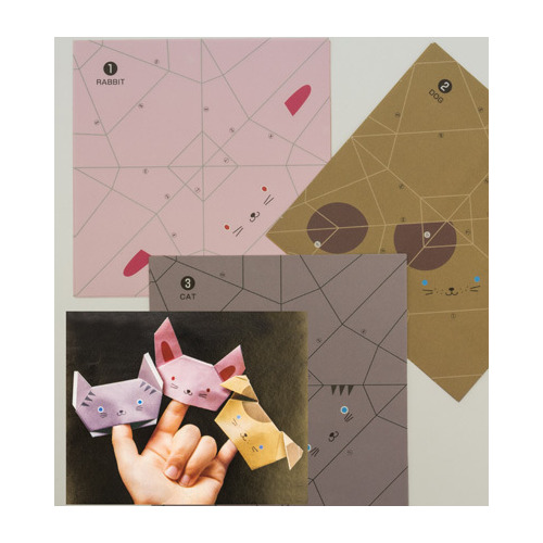 Fold By Number-Finger Puppets