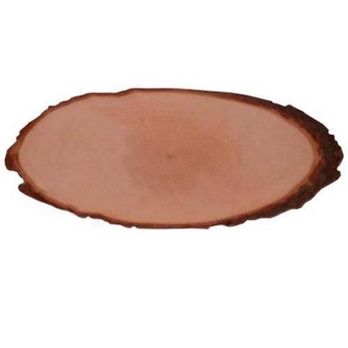 Boomschorsschijf ovaal - lengte 27-29 cm  27-29 cm x 13 cm x 1 cm