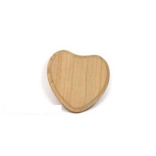 Houten paneel hart vorm klein  13cm