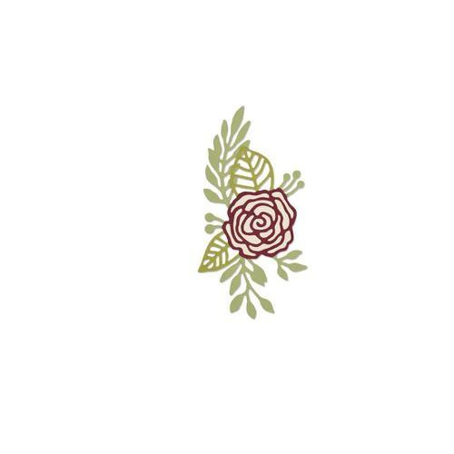 Sizzix Thinlits Die Set 2PK Doodle Rose 661742 Debi Potter (10-17)