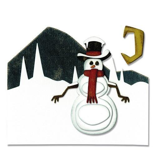 Sizzix Thinlits Die Set 10PK Snowman Scene 662422 Tim Holtz (10-17)