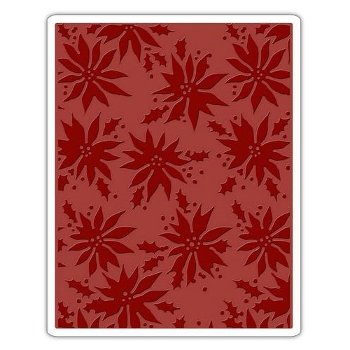 Sizzix Texture Fades Embossing Folder Poinsettias 662433 Tim Holtz (10-17)