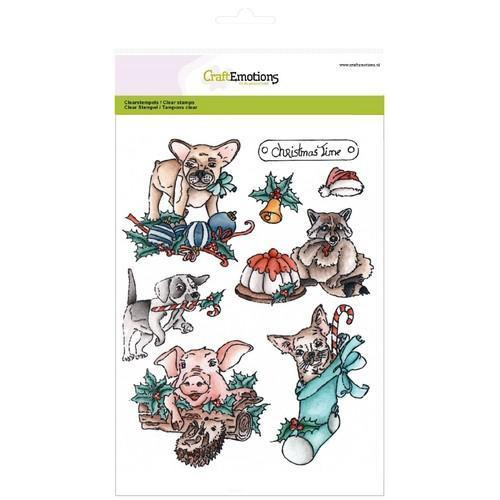 CraftEmotions clearstamps A5 - Christmas pets 1 (10-17)