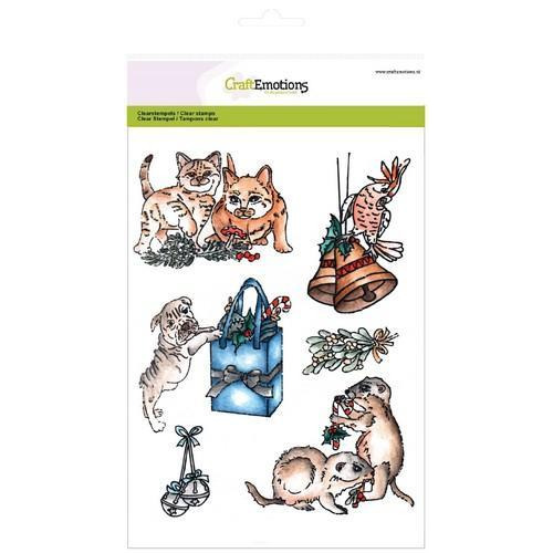 CraftEmotions clearstamps A5 - Christmas pets 3 (10-17)