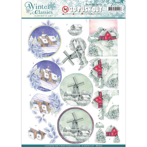 Jeanine's Art - Winter Classics - Christmas landscapes - 3D Push Out