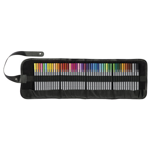"Triplus fineliner 0,3 mm roll-up etui: 48 kleuren ""mix & match"" met de Triplus Color kleurstift"