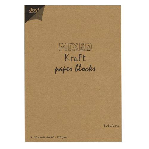 Mixed Kraft Paperbloc A5
