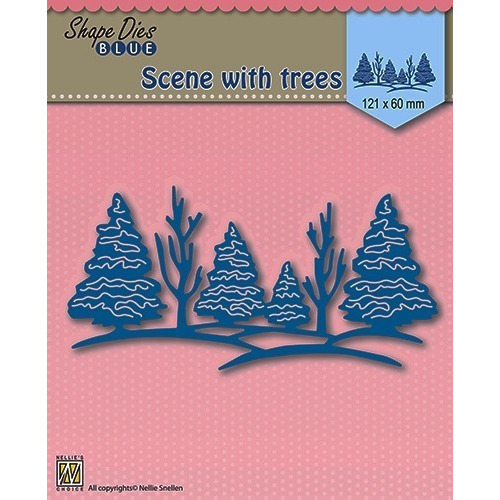 Shape Die Blue- Scene with trees